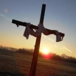 cross pic at sunrise